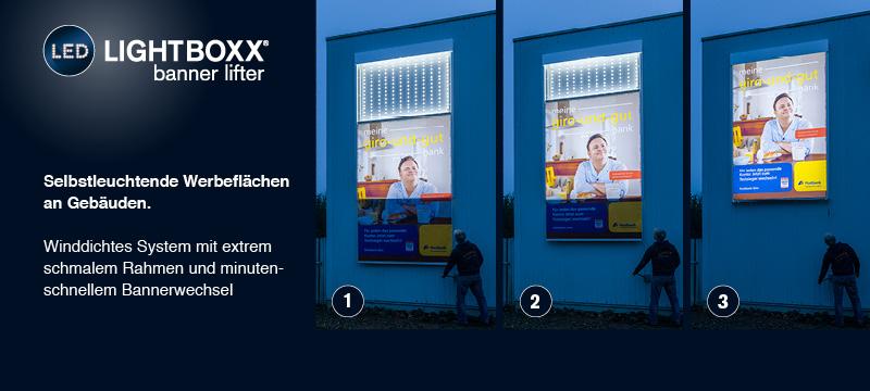LED-LIGHTBOXX bannerlifter
