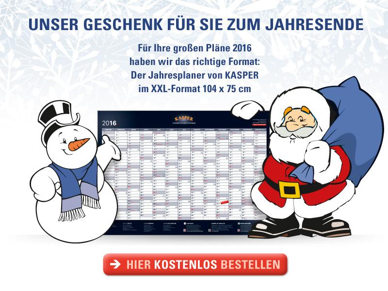 Kundeninfo KASPER 12.2015 /// Weihnachtsgeschenk und Neue Projekte ///